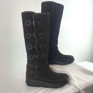 Rocket Dog Suede Brown Leather Knee-High Boots
